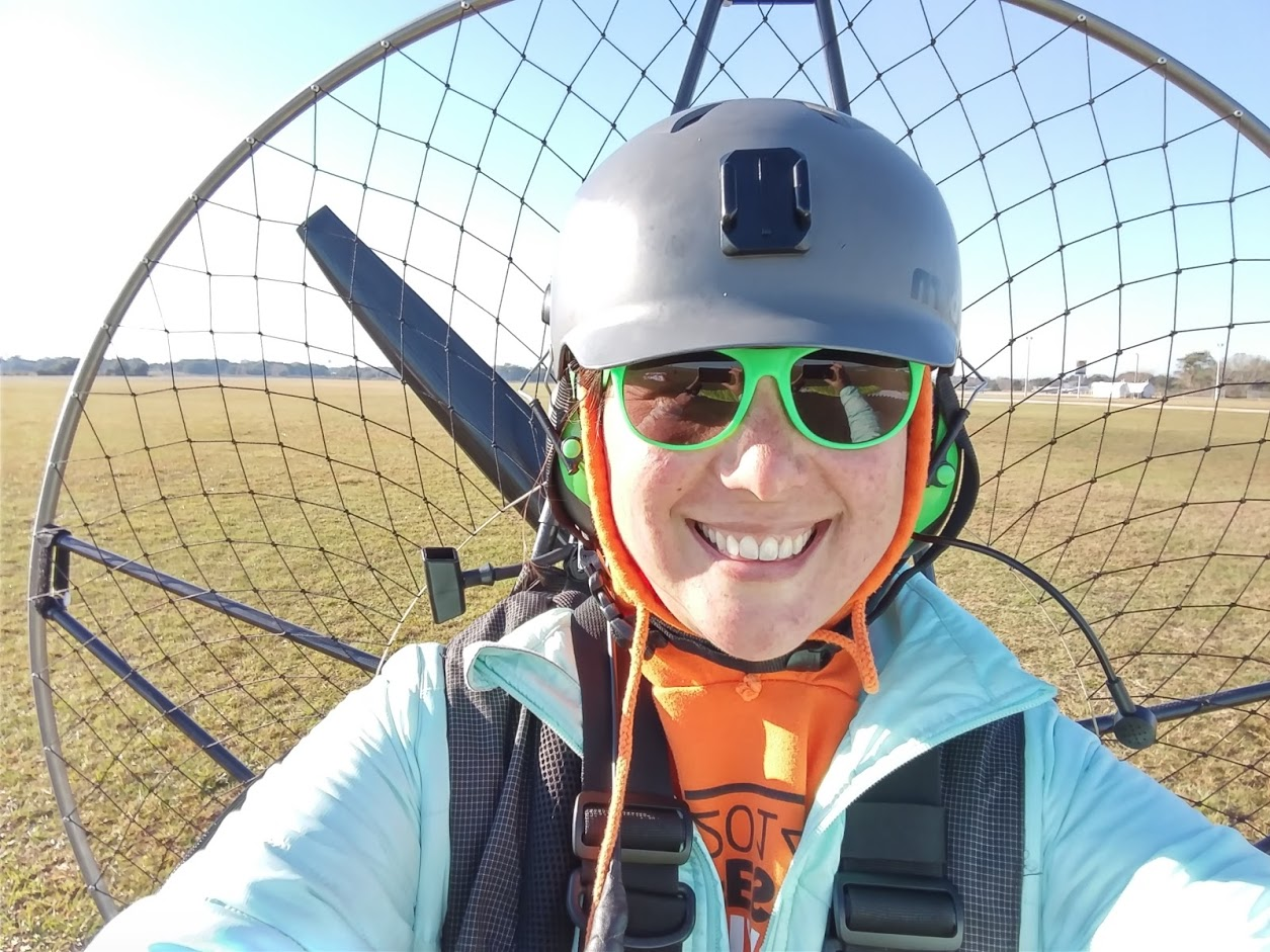 selfie after my first long-distance paramotor flight
