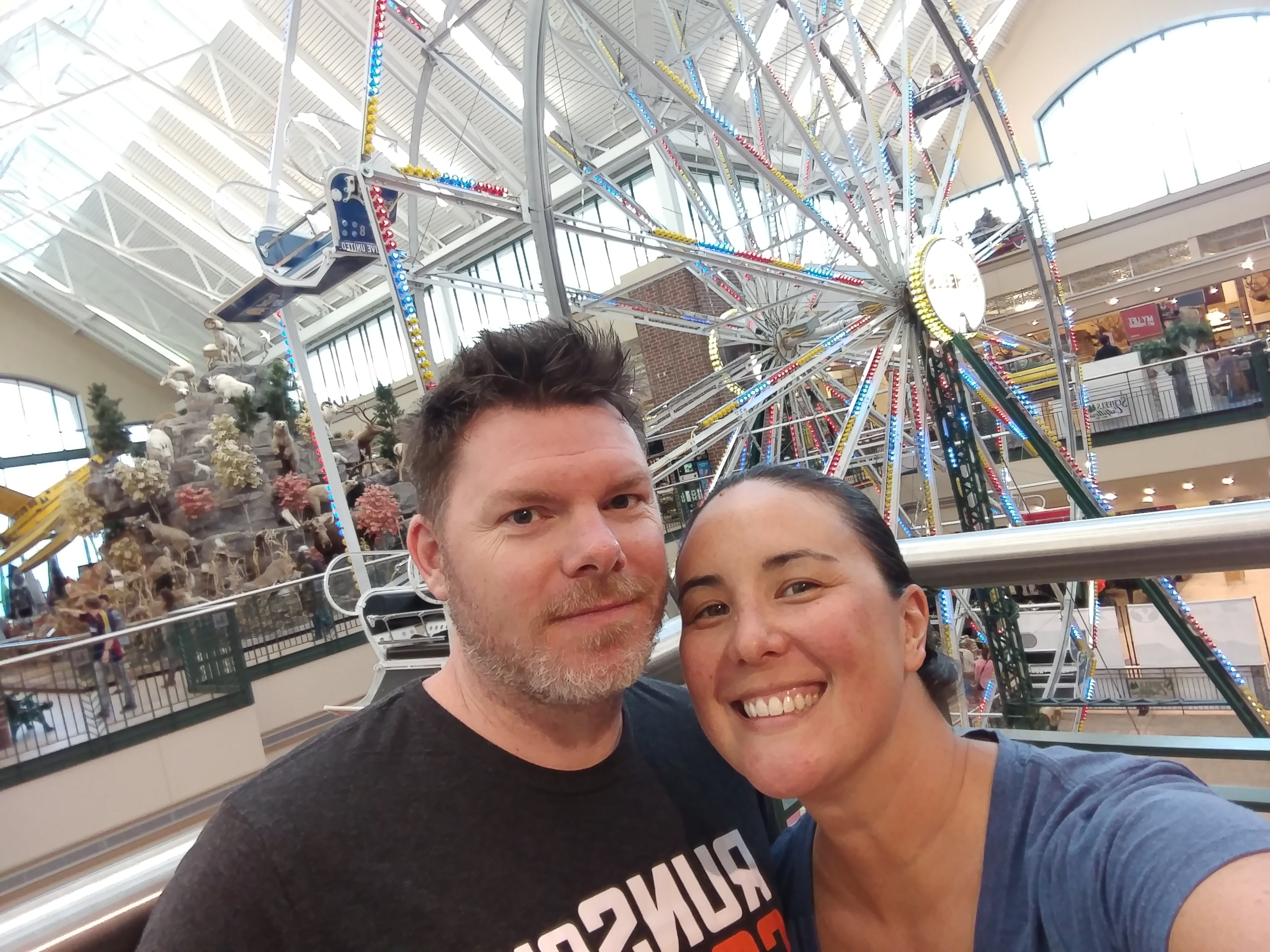 Yes, that's a Ferris wheel inside a sporting goods store.